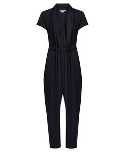 Stella McCartney | Aio Short-Sleeved Tape Silk Jumpsuit