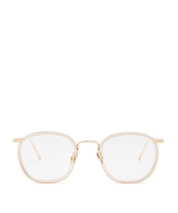 Linda Farrow | Rose Plated Square-Frame Glasses