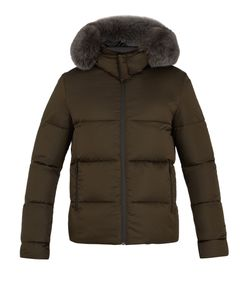 Fendi | Reversible Fur-Trimmed Quilted-Down Coat