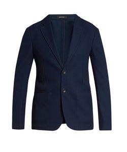 Giorgio Armani | Notch-Lapel Single-Breasted Cotton Blazer