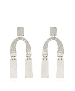 Proenza Schouler | Abstract-Shaped Hammered Drop Earrings