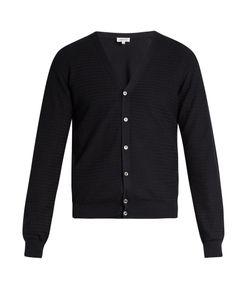 Brioni | Zigzag Waffle-Knit Cotton Cardigan
