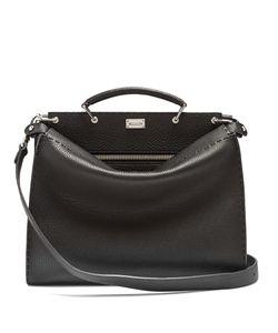 Fendi | Peekaboo Grained-Leather Briefcase