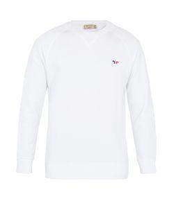 Maison Kitsuné | Logo-Embroidered Cotton Sweatshirt