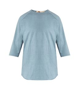 By Walid | Raw-Edge Cotton Baseball T-Shirt