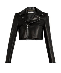 Saint Laurent | Cropped Leather Jacket