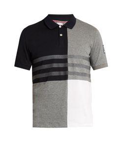 Moncler Gamme Bleu | Contrast-Panel Cotton Polo Shirt
