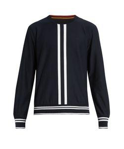 Paul Smith | Stripe-Intarsia Cotton Sweatshirt