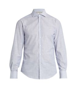 Brunello Cucinelli | French-Collar Micro Striped-Cotton Shirt