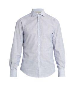 Brunello Cucinelli | French-Collar Micro Striped-Cotton Shirt