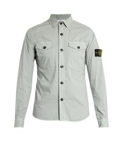 Stone Island | Patch-Pocket Cotton-Blend Shirt