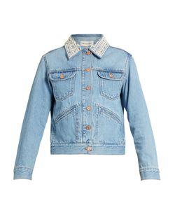 Isabel Marant Etoile   Christa Embellished-Collar Denim Jacket