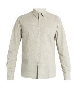 DE BONNE FACTURE | Patch-Pocket Cotton And Linen-Blend Shirt