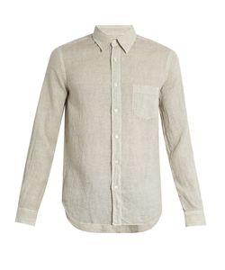 120 LINO | Spot-Print Linen Shirt