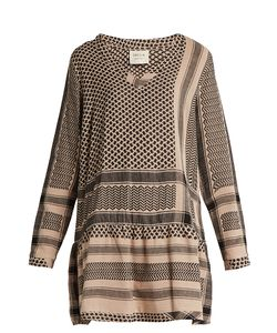 Cecilie Copenhagen | Ruffled-Hem Scarf-Jacquard Cotton Dress