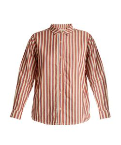 The Great | The Campus Striped Cotton Shirt