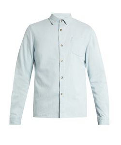 A.P.C. | Bleached Cotton-Denim Shirt