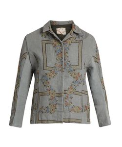 By Walid | Haya Embroidered Linen Jacket