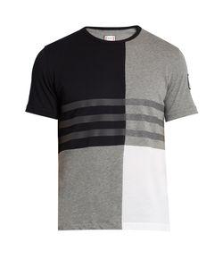 Moncler Gamme Bleu | Contrast-Panel Cotton T-Shirt