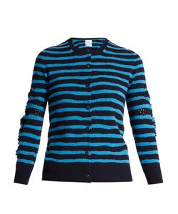 Barrie | Breton-Striped Cashmere Cardigan