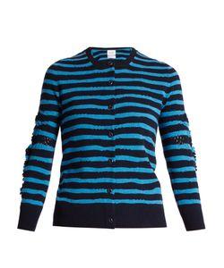 Barrie | Breton-Striped Cashmere Cardigan