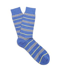 PANTHERELLA | Mariner Striped Cotton-Blend Socks