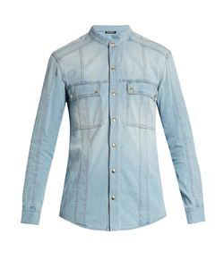 Balmain | Collarless Denim Shirt