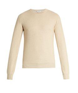 Brioni | Zigzag Waffle-Knit Cotton Sweater