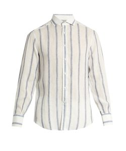 Brunello Cucinelli | Single-Cuff Striped Linen And Silk-Blend Shirt