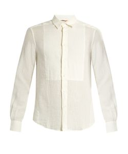 BARENA VENEZIA | Point-Collar Bib-Front Linen Shirt