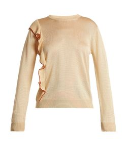 Marco de Vincenzo | Round-Neck Ruffle-Trimmed Sweater