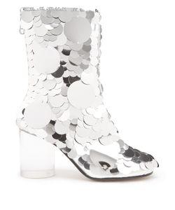 Maison Margiela | Disc-Sequin Embellished Ankle Boots
