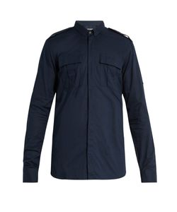 Balmain | Point-Collar Cotton Military Shirt