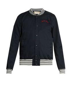 Maison Kitsuné | Embroidered-Detail Cotton Bomber Jacket