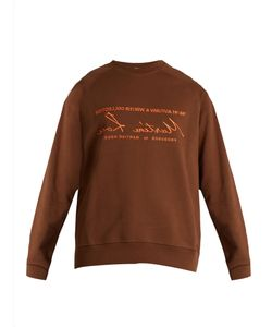 Martine Rose | Embroide Cotton-Jersey Sweatshirt