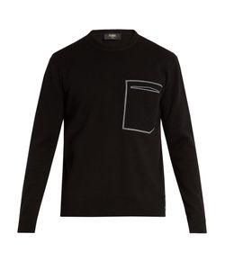 Fendi   Patch-Pocket Cotton And Cashmere-Blend Sweater