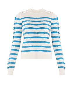 Barrie | Breton-Striped Cashmere Sweater