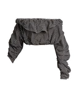 Ellery | Third Degree Checked Stretch-Cotton Cropped Top