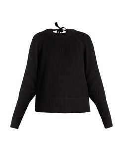 Muveil | Tie-Back Cable-Knit Cotton-Blend Sweater