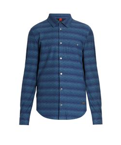 Missoni | Chevron-Striped Point-Collar Cotton Shirt