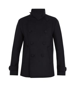 Wooyoungmi | Funnel-Collar Wool-Blend Pea Coat