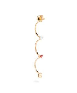 Delfina Delettrez | Diamond Rhodolite Pearl Earring