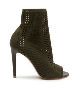 Gianvito Rossi   Vires Open-Knit Sock Ankle Boots