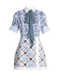 Mary Katrantzou | Hayden Toile De Jouy-Print Poplin Dress