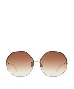 Linda Farrow | Oversized Plated Sunglasses
