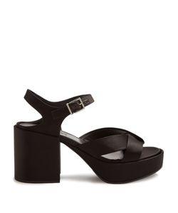 Jil Sander | Chunky Block-Heel Satin Sandals