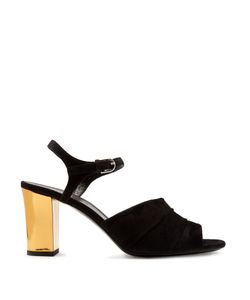 Jil Sander | Open-Toe Block-Heel Suede Sandals