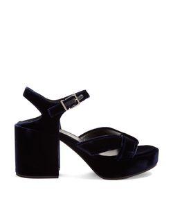 Jil Sander | Chunky Block-Heel Velvet Sandals