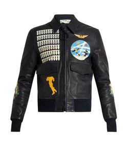 Off-White | Leather Bomber Jacket