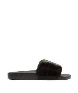Givenchy   Mink-Fur And Rubber Slides